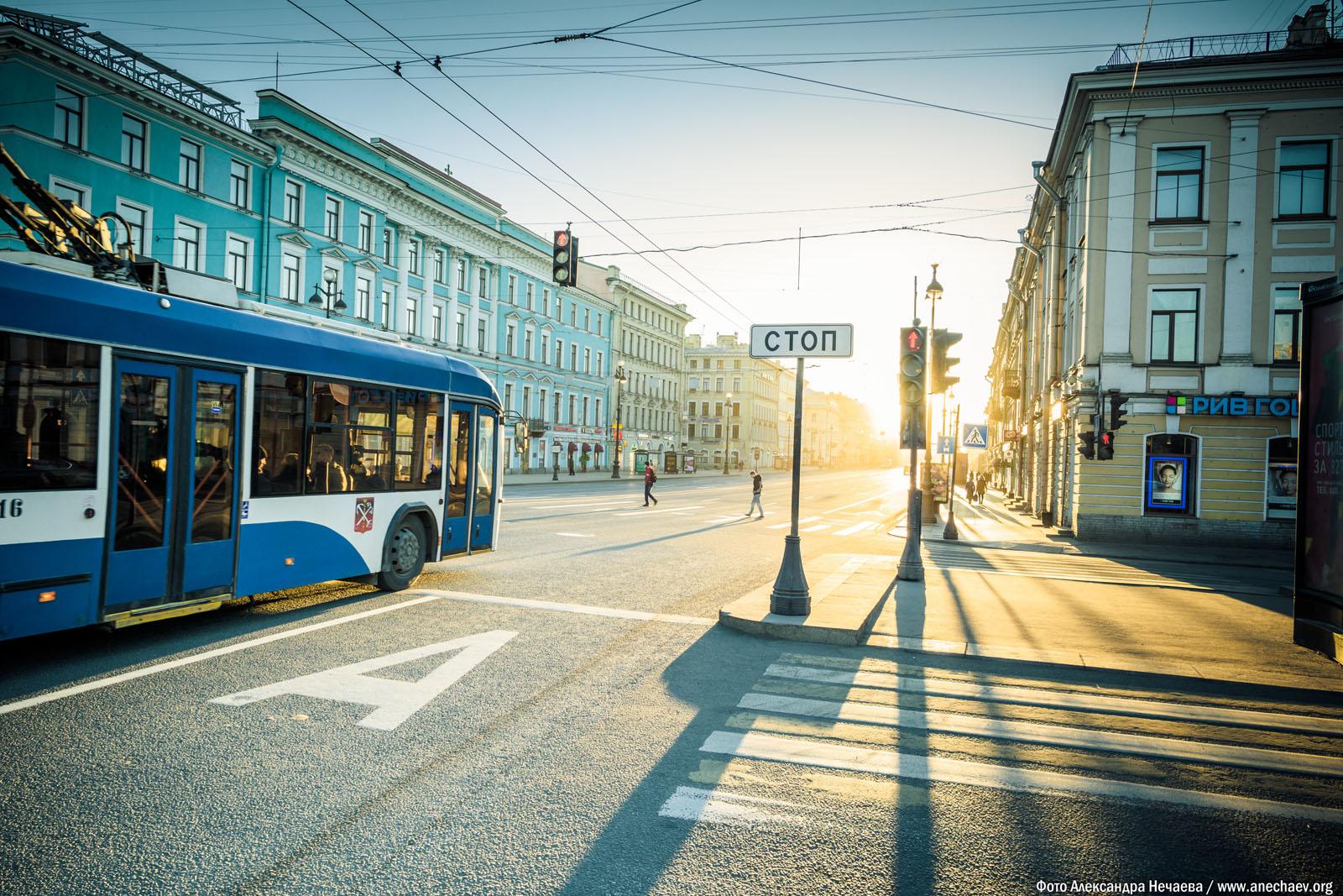Рассвет на Невском проспекте